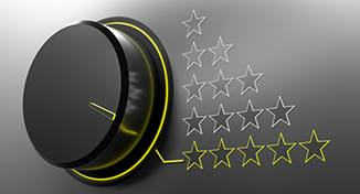 Immagine di Turning dial pointing to 5 stars
