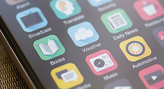 Immagine di mobile device with apps