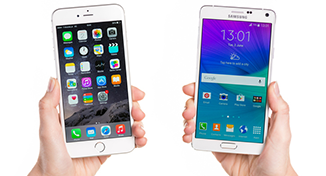 Immagine di an apple device besides and andriod device