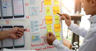Immagine di planning software development on whiteboard