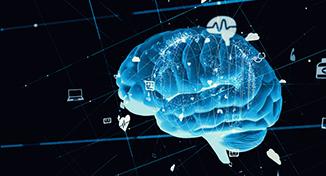 Immagine di Blue digital image of a brain