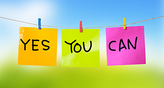 Immagine di image of Labels saying yes you can