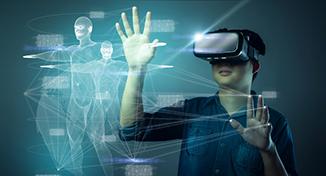 Immagine di Child using virtual reality technology